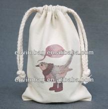 Customized Drawstring Organic Cotton Shoe Bag