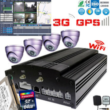 Most powerful fleet management software Clients with 4ch vehicle mobile dvr with Built-in GPS 3G wifi