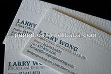 cotton paper letterpress deboss name card