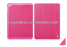 Top grade low price portable leather case for iPad 5