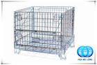 Industrial stackable welded steel transport wire mesh pallet cage