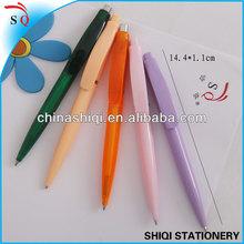 2014 simple design fat clip click ballpoint pen can print logo