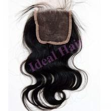 2014 new arrival brazilian hair closure, top closure hair piece