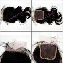 2014 new arrival brazilian hair weave closures, top closure hair piece