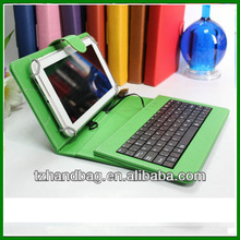 "New Leather Style Cover Case with USB Keyboard for 7"" inch Tablet"