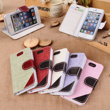 Fashion Pattern Weave Crafts Leather Wallet Case for iPhone 5/5s