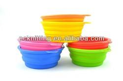 2013 New Design Novelty Pet Bowls Convenient Travel Bowl Sillicon Folding Dog Bowl