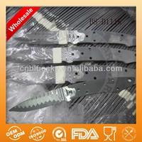 Fixed damascus steel knife blanks
