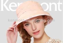 Fresh cool Fashion SPF 50 Summer Elegant Lady Wide Bucket Hat