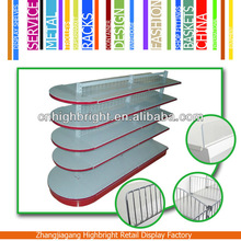round end double sided heavy duty supermarket shelves