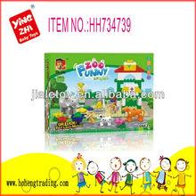 2014 educational toys happy farm block toy for children(77pcs)