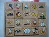 Wooden painted letters block,wooden letter block,wooden blocks paintedYZ-1211036