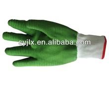Green Working latex coated gloves