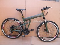 HOT sell green steel HUMMER F/R Disc brake high quality and new design Folding Bicycle