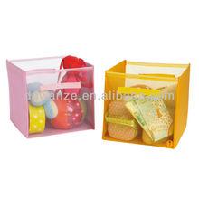 Cube kids stackable plastic mesh storage bins