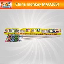 small Assorted wooden stick plastic rocket for nigeria market Fireworks(MAO2001-24#)