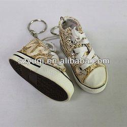 New design vanvas shoes key rings fobs