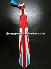 2012 fashion union jack ties ,British flag ties , silk ties for men