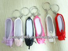 mini dance shoe keychain
