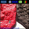 Polyester oil cire thin jacket quilted fabric