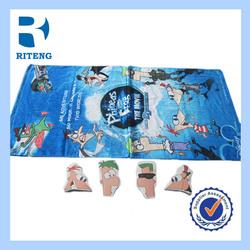 customize logo printed bath beach compress towel