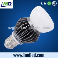 New Design 220 volt IP40 8W E27 COB high lumen aluminum LED bulb lights with Ce Rohs certification