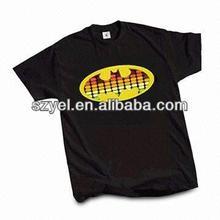 Batman Customized Black Cotton LED T-shirt