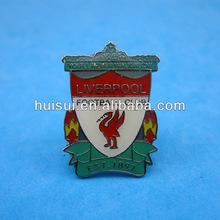 2014 High quality promotional metal led light up flashing name badge