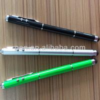 4 in 1 laser light stylus touch pen with led light,laser,ballpen
