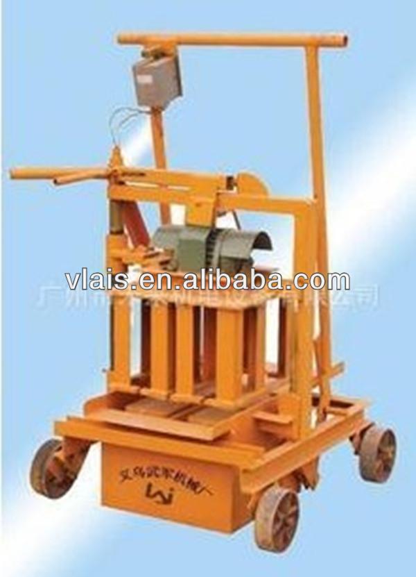 Low price!! Manual QMR 2-45 block forming machine, small brick making machinery