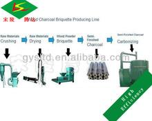 No need Binding Chemical Palm Kernel Shell Charcoal Making Machine