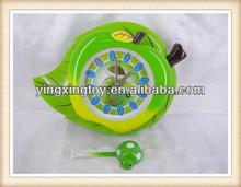 hot sell plastic apple shape wall clock