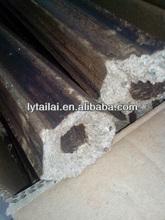 wood hexagonal charcoal market for BBQ