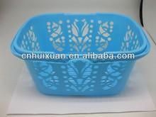 Flexible garden plastic basket with handle