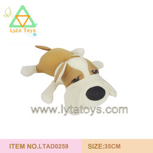 Plush Stuffed Brown and White Dog Toy