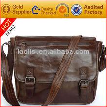 Italian vintage oil mens leather messenger bag marco polo laptop bags for men