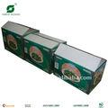 Reciclar personalizado fuerte de vegetales y frutas de cajas de cartón para tansport, frutas y vegetales cajas de embalaje