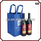 reusable custom divided wine tote bag