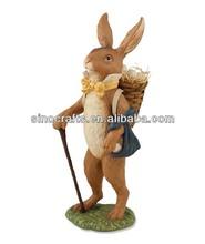 factory direct custom resin rabbit for easter decoration