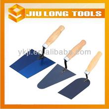 blue steel polished blade wooden handle marshalltown trowel bricklaying trowel forged brick trowel