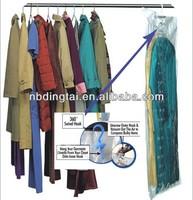 hanger vacuum storage bag,hanging storage bag,hanging plastic bag storage