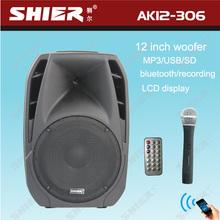 AK12-306 12 Inch wireless rechargeable outdoor USB digital audio mixer