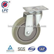75mm,100mm,125mm High quality Medium duty Top plate PU Medical plastic swivel caster
