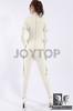 White bondage latex catsuit, 100% natural latex