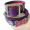 Hot selling fashion DIY leather pet big dog collars pet products