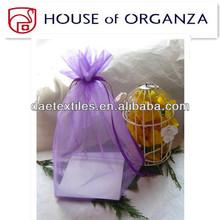 2014 Newest Designed Beautiful Wedding Gift Light Yellow Organza Bag