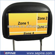 7 headrest monitor dvd for honda crv/mercedes/mazada3