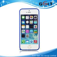 clear hard back aluminium bumper case for iphone 5 free screen guard