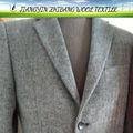 de alta calidad de lana de espiga tela traje