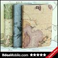 Antigo mapa mundial de couro pele caso capa para samsung galaxy tab3 10.1 p5200 bluk